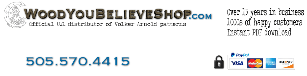 Wood You Believe Shop - Volker Arnold Patterns